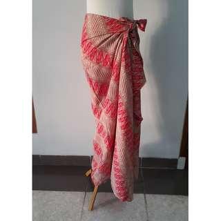 Batik Dobby Parang Merah Cocok untuk Kemeja / Rok