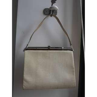 """Vintage"" Tan Beige Snakeskin Handbag"