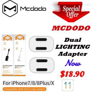 Apple Dual  Lighting Adapter