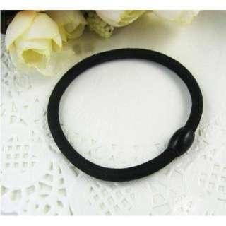 [4條$10元] 韓版飾品 百搭髮繩 髮圈 簡約髮飾 (黑)