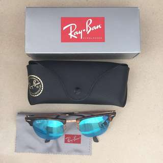 Ray-Ban Clubmaster Light Ray Tortoise, RB8056