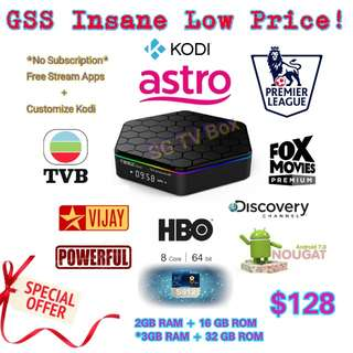 🚚 Most Latest Android 7.1 Nougat S912 Chip , Greatever T95Z Plus TV Box ( ( IPTV / ASTRO / Malaysia Channels / TV3 / Malay / TVB / World cup 2018 / Android TV Box )
