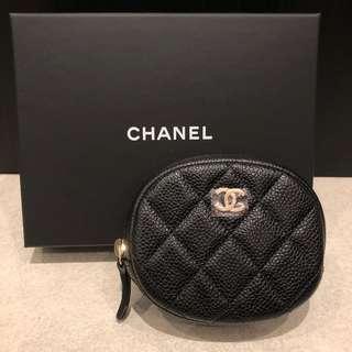 Chanel 黑色牛皮金釦Coins Bag 散紙包