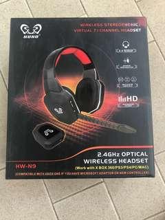 全新 HUHD Universal 2.4Ghz Optical Wireless Gaming Headset with