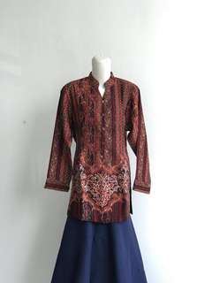 Kemeja Batik big size blouse ukuran besar XL