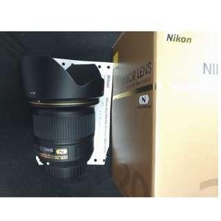 Nikon 20mm f1.8 G (公)