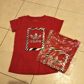 Red adidas girl tees