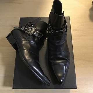 ysl slp saint laurent 皮靴 皮鞋 boot boots 40 hedi dior