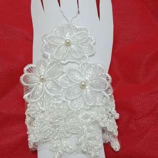 Sarung tangan pengantin bahan lace brokat swarozky