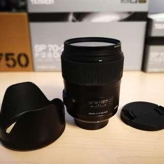 Sigma 35mm f1.4 Art DG HSM Nikon F mount