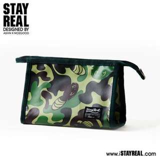 BN authentic stayreal mousy camo pouch