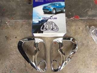 Mitsubishi Triton Tailamp Cover Chrome