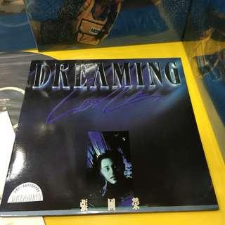 張國榮 DREMAING 90年原版LP黑膠唱片 附寫真歌書 稀有整體98%光潔如新 封套簇新光澤 保存極佳 珍藏首選!