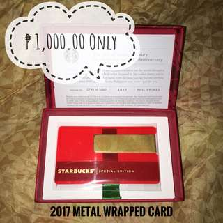 Metal Wrapped Card 2017