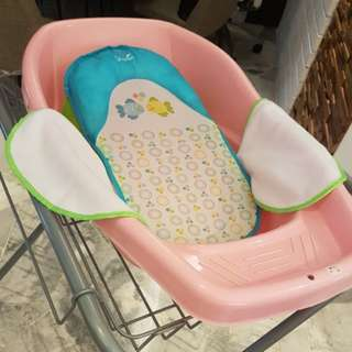 Baby shower stand and Bath sling