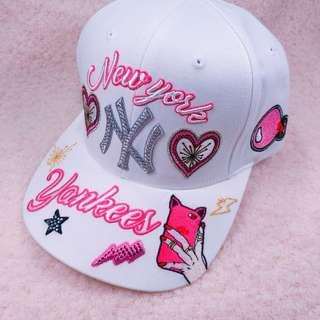 韓國MLB X TWICE NY洋基情人節聯名款帽