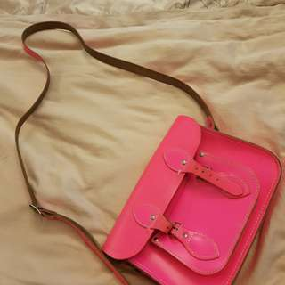 Cambridge Satchel Mini in Neon Pink