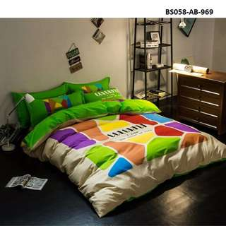 [969] 4pcs Cotton BedSheet AB [Super Single/Queen/King] #BS058 #ezwayenterprise #FreeWMPosatge #Onesize