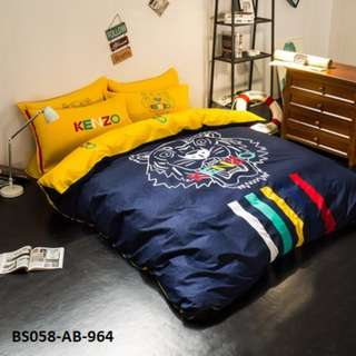 [964] 4pcs Cotton BedSheet AB [Super Single/Queen/King] #BS058 #ezwayenterprise #FreeWMPosatge #Onesize