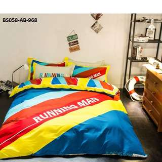 [968] 4pcs Cotton BedSheet AB [Super Single/Queen/King] #BS058 #ezwayenterprise #FreeWMPosatge #Onesize