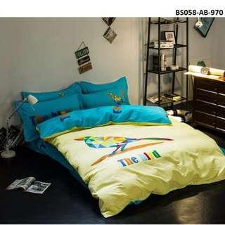 [970] 4pcs Cotton BedSheet AB [Super Single/Queen/King] #BS058 #ezwayenterprise #FreeWMPosatge #Onesize