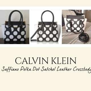 Preowned Calvin klein polka dot satchel bag