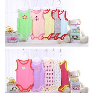 (5pcs in a pack) Baby Carter's SINGLET Romper