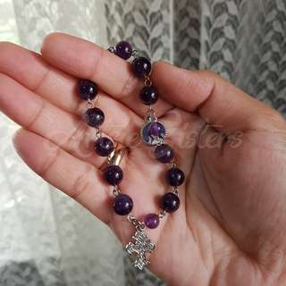 Amethyst Pocket Rosary