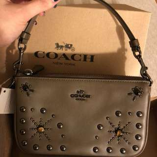 Coach cow skin small handbag