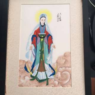 Silk painting — our Lady of the Immaculate Conception