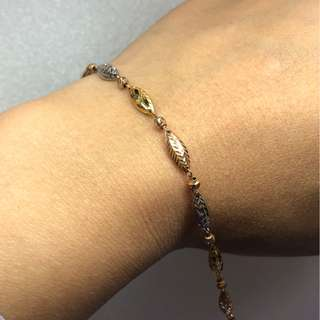 18kt tri color gold bracelet