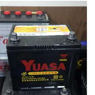 (二手中古電池) YUASA 55D23L-免保養汽車電池 數值漂亮,品項優