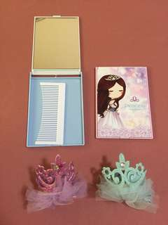 Princess mirror and hair clip