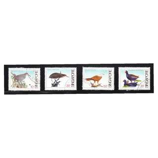 SINGAPORE 1984 COASTAL BIRDS COMP. SET OF 4 STAMPS SC#434-437 IN FINE USED CONDITION