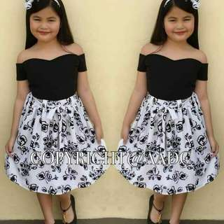 🌺SHORT SKIRT TERNO W/ TURBAN  🌺FIT 5-9YRS. OLD