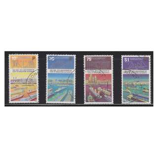SINGAPORE 1989 25TH ANNIV. OF POST AUTHORITY  COMP. SET OF 4 STAMPS IN FINE USED CONDITION