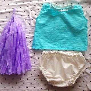 ‼️SALE‼️DALLAS BABY GIRL'S BLOOMER SET for (6 months - 12 months)