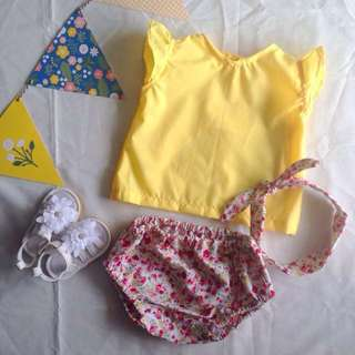 ‼️SALE‼️BERNICE BABY GIRL'S BLOOMER SET for (6 months - 12 months)