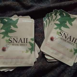Baroness Face Mask (Snail) 5 pcs bundle, 2 slots