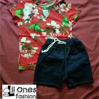 Floral Tee & Shorts Set