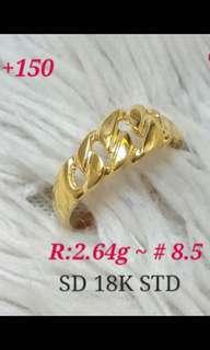 SPL Ring 18karat Saudi Gold