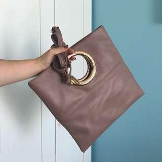 Blush Pink Clutch Handbag