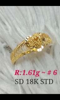 Saudi Gold Ring 18k