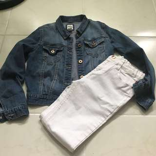 FOREVER 21 GIRLS DENIM JACKET AND PANTS SIZE 12 YEARS