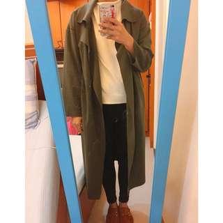 轉賣popcon墨綠薄針織外套