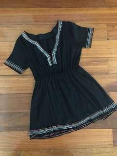 Bohemian Black Dress