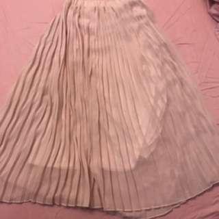 粉藕色 紗裙 長裙 女神氣息長裙