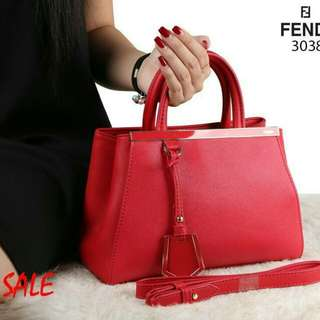 F*ND* Two Jours Bag Exclusive Taiga Combi Smooth Leather Hardware Premium like Ori 3038  (04)*