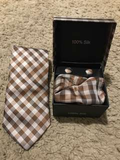 men's tie, cufflinks & pocket square combo #9