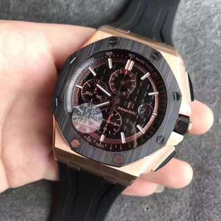 Audemars Piguet Chronograph 18K Rose Gold Swiss QC ETA 3126